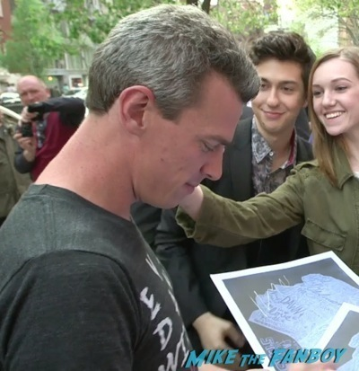 Nat Wolff signing autographs The Fault in our stars fan screening q and a 2