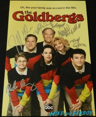 The Goldbergs cast signed autograph poster rare jeff garlin Paley Center Q and A George Segal 22
