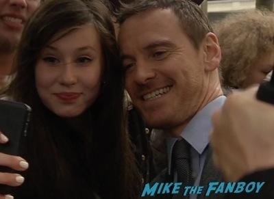 X-Men: Days of Future past uk premiere signing autographs ian mckellen michael fassbender 6