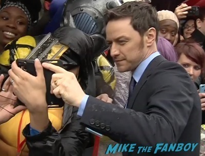 X-Men: Days of Future past uk premiere signing autographs ian mckellen michael fassbender 9