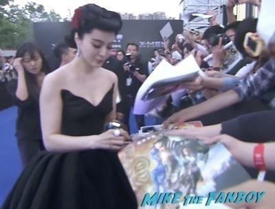 Bingbing Fan signing autographs X men days of future past beijing premiere hugh jackman signing autographs        1