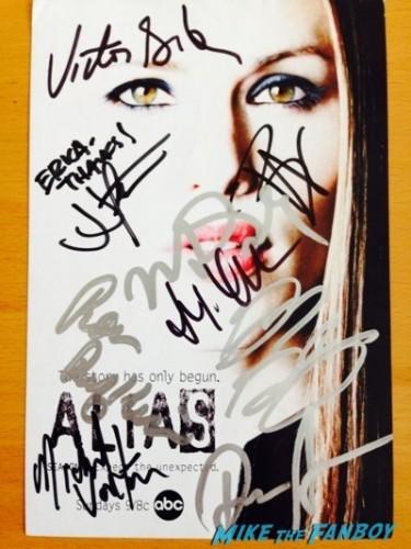 alias cast signed autograph rare signing autographs jennifer garner5