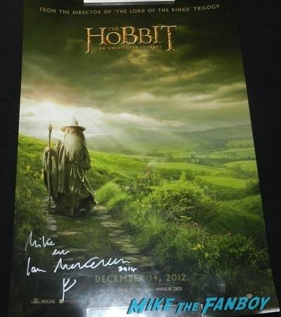 ian mckellen signed autograph hobbit poster