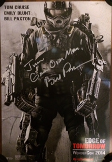 bill paxton signed autograph edge of tomorrow poster
