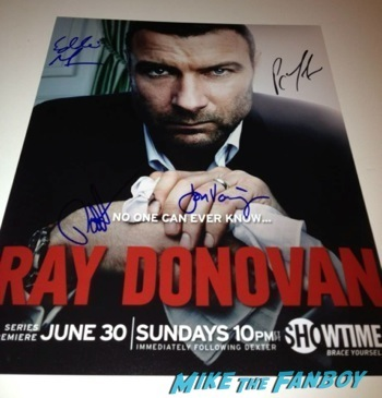 ray donovan signed autograph poster rare television academy event signing autographs 7