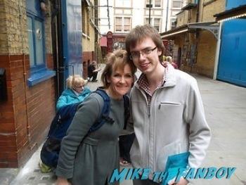 Lorraine Asbourne signing autographs west end london 13