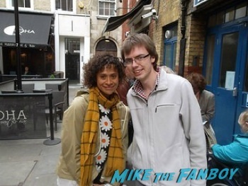 Angel Coulby signing autographs west end london 37
