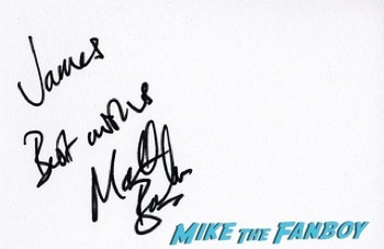 Matthew Barker signing autographs west end london 17