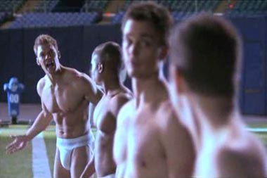 blue mountain state shirtless naked locker room photo
