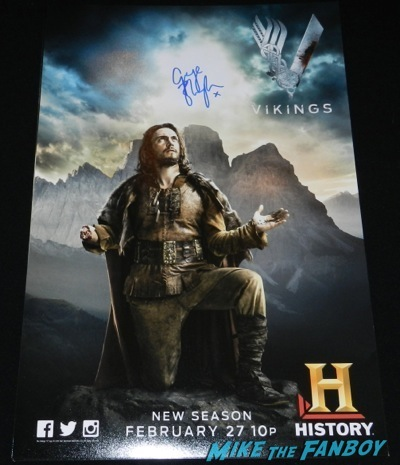 george blagden signed autograph lenticular vikings television academy q and a clive standen katheryn winnick 3
