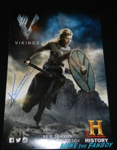 katheryn winnick signed autograph lenticular vikings television academy q and a clive standen katheryn winnick 3