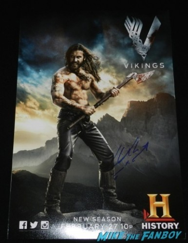 clive owen signed autograph lenticular vikings television academy q and a clive standen katheryn winnick 3