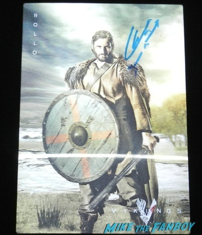 clive standen signed autograph lenticular vikings television academy q and a clive standen katheryn winnick 3