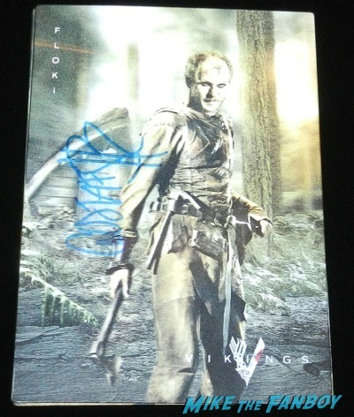 gustaf skarsgard signed autograph lenticular vikings television academy q and a clive standen katheryn winnick 3