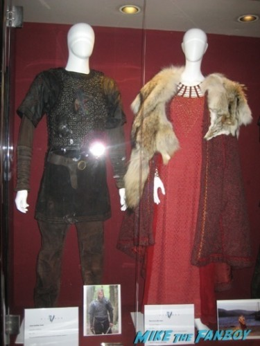 vikings prop and costume display television academy q and a clive standen katheryn winnick 68