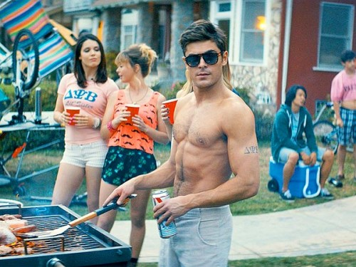 zac-efron shirtless neighbors abs pec muscle flex hot sexy rare