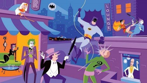 1966 batman shag huckleberry art print