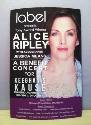 alice ripley signed autograph poster rare
