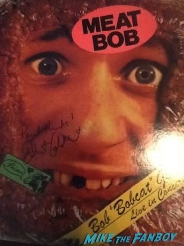 Bobcat Goldthwait signed autograph meat head lp record rare Bobcat Goldthwait q and a signing autographs fan photo   1