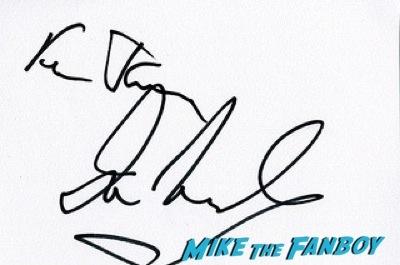 Ian McShane fan photo signing autographs Cuban Fury premiere uk rashida jones fan photo autograph   4