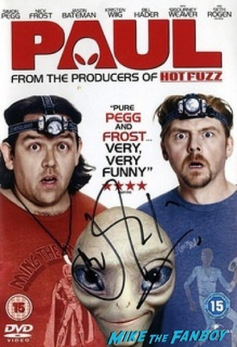 nick frost signed autograph paul dvd cover