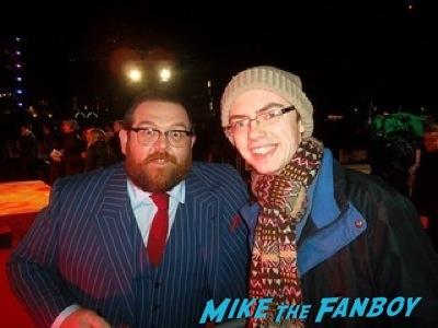 nick frost fan photo Cuban Fury premiere uk rashida jones fan photo autograph   6