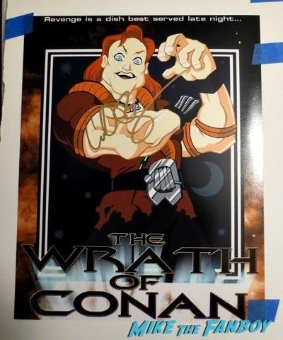 conan o'brien signed autograph conan the destroyer poster
