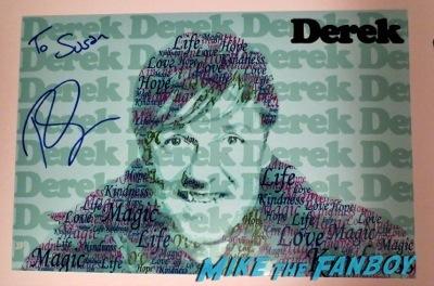 ricky gervais signed autograph Derek TV Academy Q and A ricky gervais signing autographs conan o'brien    9