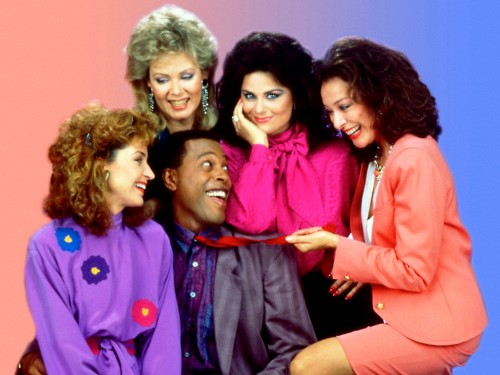 Annie Potts, Jean Smart, Meshach Taylor, Delta Burke and Dixie Carter(from left)