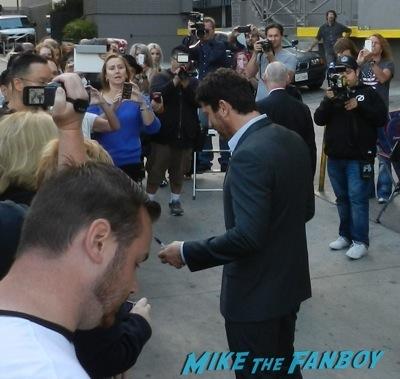 Gerard butler signing autographs jimmy kimmel live 1