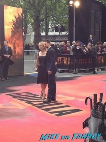 Godzilla UK Premiere bryan cranston aaron taylor johnson       10
