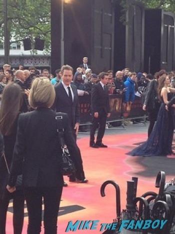 Bryan Cranston Signing Autographs Godzilla UK Premiere bryan cranston aaron taylor johnson       1