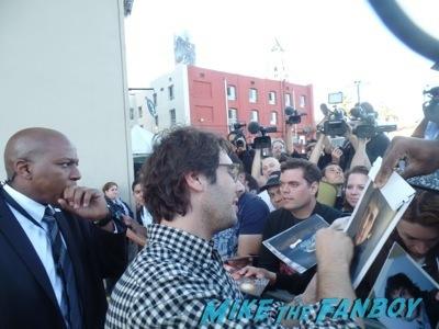 Josh Groban signing autographs jimmy kimmel live