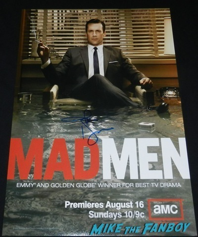 Jon Hamm signed autograph mad men season 3 poster Mad Men TV Academy Q and a jon hamm signing autographs   59