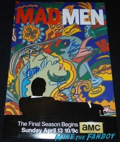mad men signed autograph season 7 jon hamm john slattery Mad Men TV Academy Q and a jon hamm signing autographs   60
