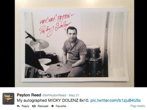 Peyton reed autograph collection drummer