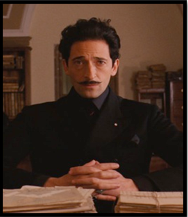 Dmitri (Adrien Brody) the grand budapest hotel