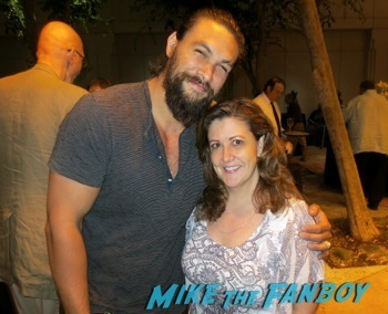Jason Mamoa signing autograph The Red Road TV Academy Q and A Jason Mamoa hot 7