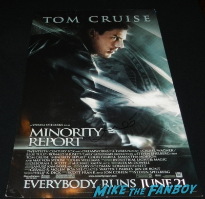 minority report signed autograph poster Tom Cruise signing autographs fan photo jimmy kimmel live 2014    63