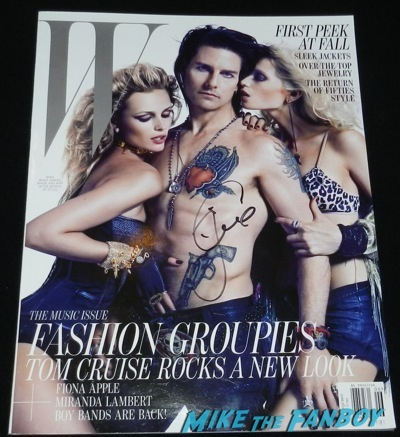 Tom Cruise signed shirtless W Magazine rare promo naked signing autographs fan photo jimmy kimmel live 2014    69