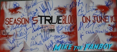 True Blood season 2 signed poster anna paquin stephen moyer