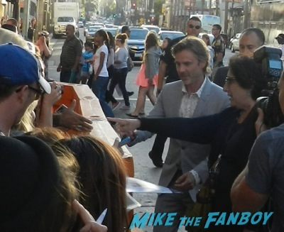 Sam Trammell signing autographs True Blood season 7 premiere anna paquin stephen moyer signing autographs   22