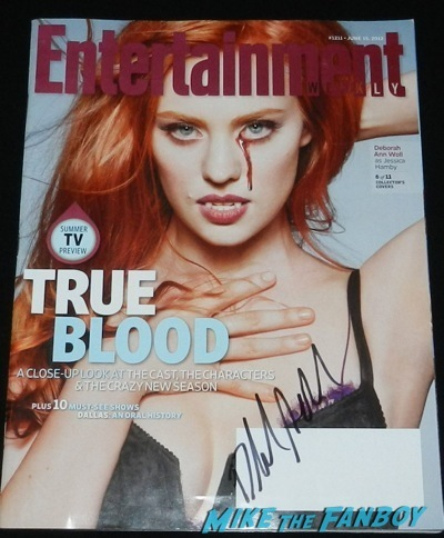 Deborah ann woll signed entertainment weekly magazine cover