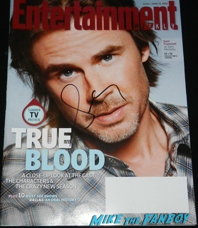sam trammell signed entertainment weekly magazine cover