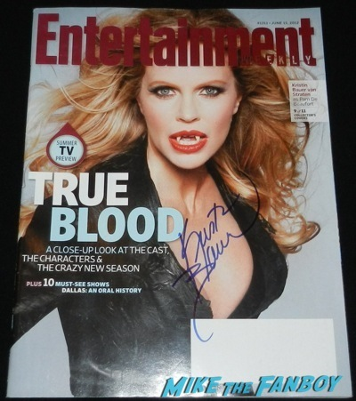 kristin bauer signed entertainment weekly magazine cover