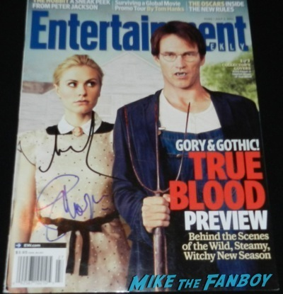 anna paquin stephen moyer signed enertainment weekly cover