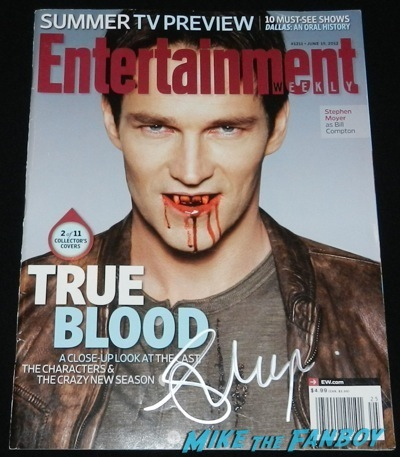 stephen moyer signed entertainment weekly cover