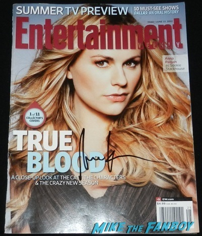 anna paquin signed enertainment weekly cover
