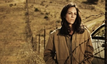 THE BRIDGE (Series Premiere, Wednesday, July 10, 10:00 pm e/p) -- Pictured: Annabeth Gish as Charlotte Millwright -- CR: Frank Ockenfels/FX