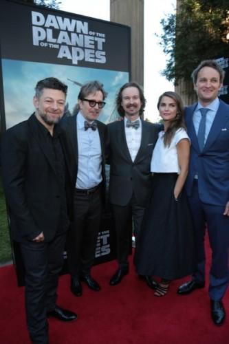 Andy Serkis, Gary Oldman, Matt Reeves, Keri Russell, Jason Clarke
